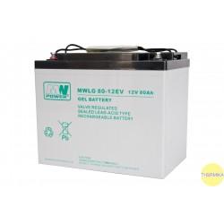 Akumulator MWLG 80-12EV (12V-80Ah, GEL-PVC)