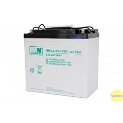 Akumulator MWLG 55-12EV (12V-55Ah, GEL-PVC)
