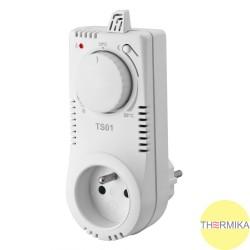 Gniazdkowy termostat TS01 z pokrętłem