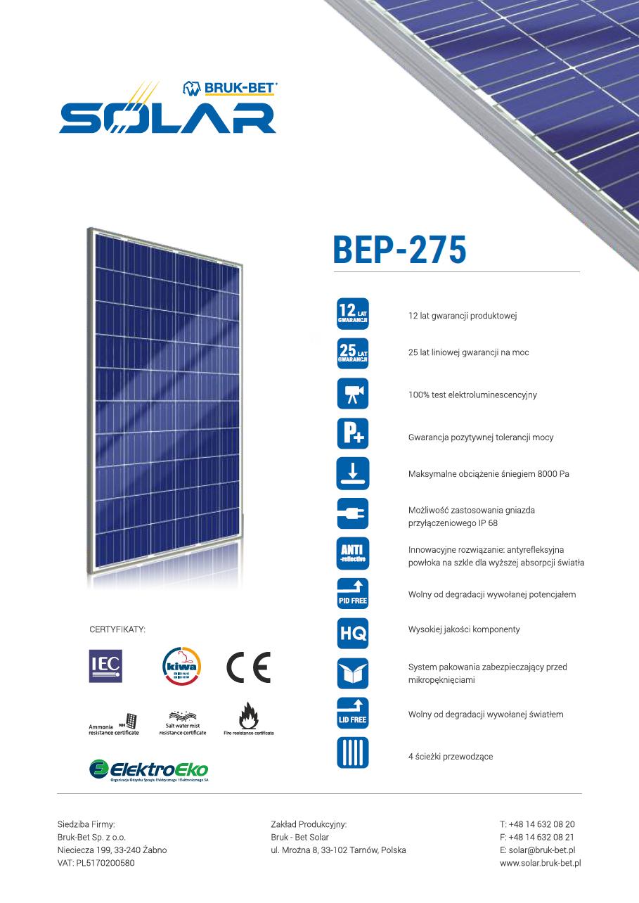BEP 275 Wp
